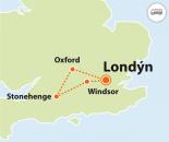 To nejlepší z Londýna + WINDSOR, STONEHENGE, OXFORD (autobusem)