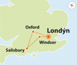 To nejlepší z Londýna + WINDSOR + SALISBURY + OXFORD (letecky z Brna)
