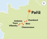 To nejlepší z Paříže + ZÁMKY NA LOIŘE (letecky z Prahy)