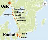 To nejlepší ze západního Švédska + KODAŇ + OSLO (letecky z Prahy)