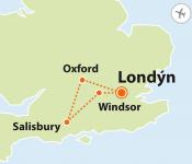 To nejlepší z Londýna + WINDSOR + SALISBURY + OXFORD