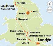 To nejlepší ze severní Anglie + LONDÝN