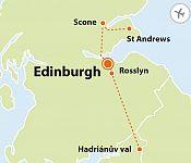 To nejlepší z Edinburghu + HADRIÁNŮV VAL