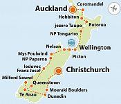 To nejlepší z Nového Zélandu + PŘÍRODNÍ KRÁSY SEVERU A JIHU