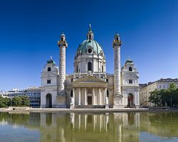 Karlskirche v barokním stylu