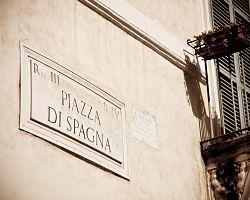 Značení ulic v Římě