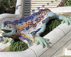 Salamander - naleznete v Parku Güell