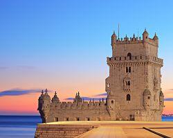 Belémská věž při západu slunce