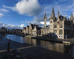 Úchvatné nábřeží Graslei v Gentu