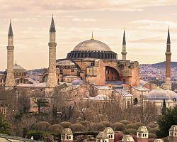 Byzantský chrám Hagia Sophia