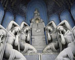 Italský hřbitov Cimitero Monumentale