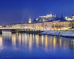 Salzburg leží na řece Salzach
