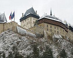 Gotický hrad Karlštejn