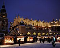 Vánoční trhy před Sukiennicí