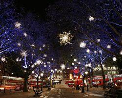 Vánoční atmosféra v londýnských ulicích