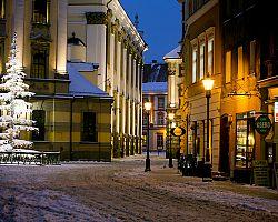 Zasněžené ulice Wroclawi