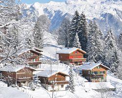 Švýcarská zimní scenérie...