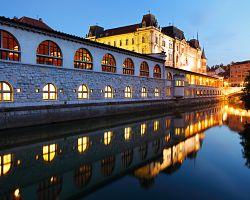 Kouzlo noční Lublaně