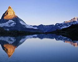 Matterhorn při východu slunce