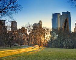 Central park při západu slunce