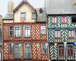 hrázděné domy v Rennes