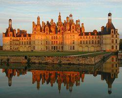 Západ slunce nad Chambord