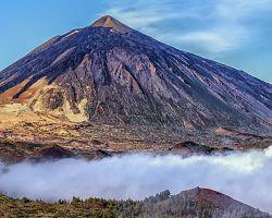Sopka Pico del Teide