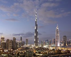 Nejvyšší budova světa Burj Khalifa