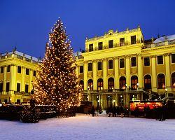 Vánoční trhy u zámku Schönbrunn
