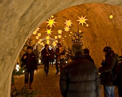 Vánočně nazdobený Königstein