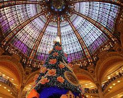 Vánoční atmosféra Galerie Lafayette