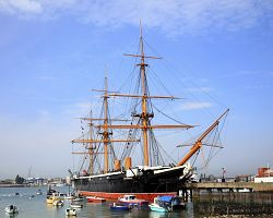 Loď HMS Warrior v Portsmouth