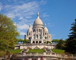 Bazilika Sacré Coeur na Montmartru
