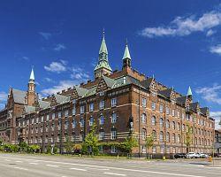 Radnice z červených cihel v Kodani