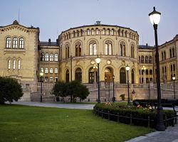 Budova norského parlamentu v Oslu