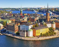 Stockholm z ptačí perspektivy