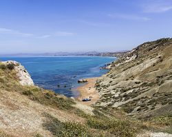 Pláž v Agrigentu