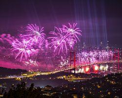 Silvestrovské oslavy nad městem