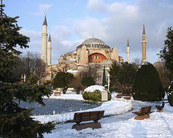 Sníh se v Istanbulu málokdy udrží