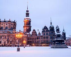 Jedinečná atmosféra zimních Drážďan