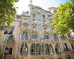 Gaudího Casa Batlló v Barceloně