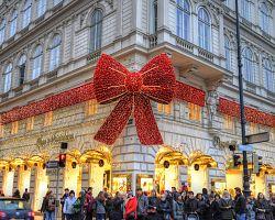 Sváteční výzdoba vídeňských ulic