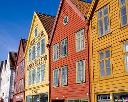 Staré hanzovní domy v Bergenu