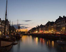 Kodaň během večera