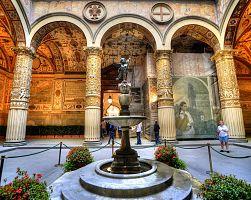 Nádvoří paláce Palazzo Strozzi