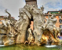 Berniniho Fontána čtyř řek