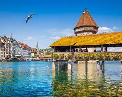 Slavný Kaplový most v Luzernu
