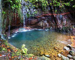 Čarokrásné madeirské vodopády