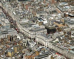 Pohled na nákupní ulici - Oxford street