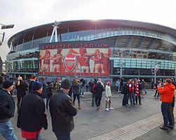 Pohled na fotbalový stadion FC Arsenal